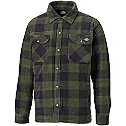 Dickies - Camisa térmica acolchada para trabajo, L, verde