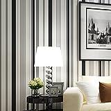 Lzhenjiang Wandbilder In Der Nicht Selbstklebende Tapetenkleister Farbigen Vertikalen Streifen Non-Woven Normalpapier Tapete Farbe Kinder Schlafzimmer Wohnzimmer Schlafzimmer Hintergrund, Schwarz Und Weiß