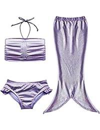 URAQT Bebé Traje de Baño Disfraz de Sirena Bañador de Verano Bikini Infantil Lindo Ropa de Natación para Niñas
