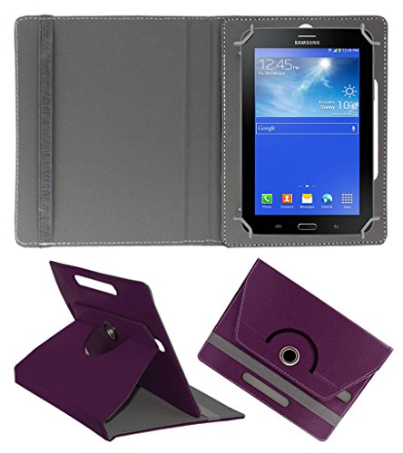 ACM ROTATING 360° LEATHER FLIP CASE FOR SAMSUNG GALAXY TAB 3 T111 NEO TABLET TABLET STAND COVER HOLDER PURPLE  available at amazon for Rs.149