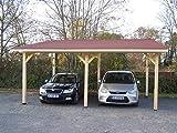 Habrita - HABRITA - Carport double monopente avec couverture bardeau...