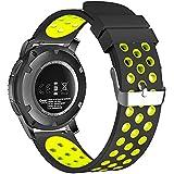 18mm 20mm 22mm Universal reloj bandas, FanTEK suave silicona Nike deporte liberación rápida correa de reloj pulsera para Huawei Watch/Samsung Gear S3/Pebble tiempo/Moto 3602nd Gen reloj - SWAAWBNE20BY, Black/Volt