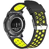 22mm 20mm 18mm Smart Watch, Fantek morbido silicone traspirante Nike sport fascia impermeabile alternative orologio da polso cinturino per Pebble Time/Moto 3602nd Gen Watch/Samsung Gear S3Frontier/Classic
