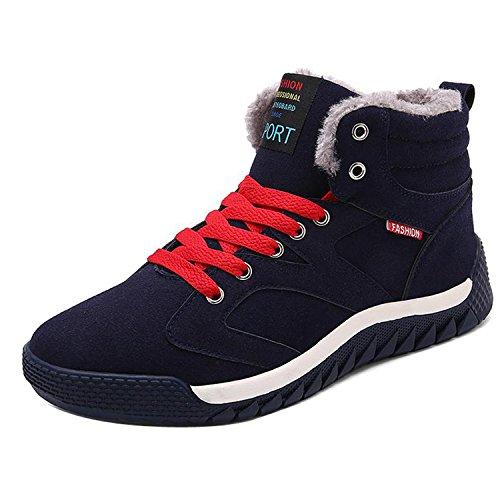 Gaorui Uomo Scarpe Invernali Da Neve Imbottiti Scarpe Caldo Casual Camoscio Sneakers Stivaletti Invernali