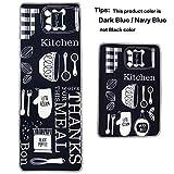 Leebei Küchenmatten Anti-Rutsch Waschbar Flanell Fußmatte Innenbereich Teppiche Küchenteppich Küchenläufer Matte (Küche, 15,7×23,6 Zoll + 15,7×47,2 Zoll) - 7