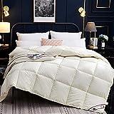 Rouzuofuzhuangdian KüHlende Bettdecke,100% einfarbig Superfeinfaser Winter Quilt Tröster Polyesterdecke Bettbezug mit Baumwollbezug Twin Queen King Size-180X220cm 4kg_Hellgelb