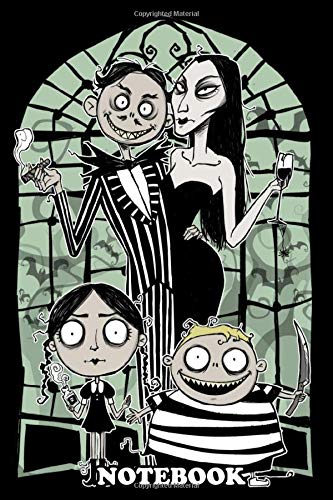 "Notebook: Addams Nightmare , Journal for Writing, College Ruled Size 6"" x 9"", 110 Pages"