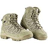 FREE SOLDIER Herren Tactical Stiefel Mid High Rise Wandern Schuhe Winter Leder Stiefel (41, Mud Color) (Misc.)