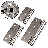 2 EDELSTAHL Türbänder Türschließer H: 75 mm // ohne SoftClosing // Türband Scharnier Türscharnier