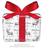 3er-Set Weihnachts Geschenkpapier Bögen HIRSCH WEIß zu Weihnachten & Adventszeit • Weihnachtspapier für Weihnachtsgeschenke, Adventskalender u.v.m. (Format : 50 x 70 cm)