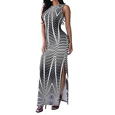 Ladies Womens Summer Maxi Boho Robe longue FAMI Evening Cocktail Party Dress (M)