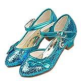 Brinny Princesse Fille Ballerines Chaussures à haut talon Sequin tête fermée Déguisement Sandale Pour Mariage Cérémonie Communion et baptême Taille: 28-38