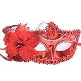 YAZILIND de Moda máscara de Venecia Princesa Ojos rodean Lado Floral...