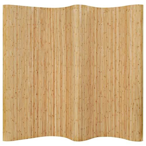 vidaXL Raumteiler Bambus 250x195cm Natur Paravent Trennwand Spanische Wand