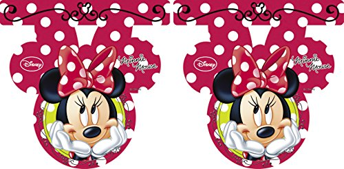 Image of 2.6m Fashion Disney Minnie Mouse Bunting Flags