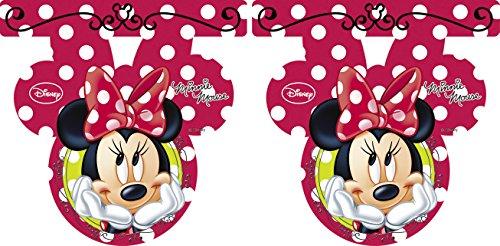 Disney - Festone Di Minnie Con Motivo A Pois, Rosso - Compleanno Banner Misure