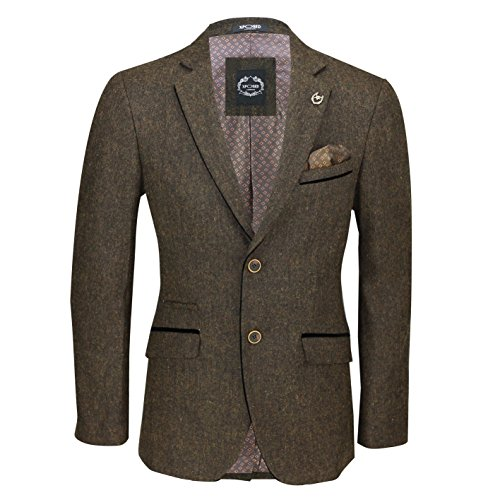 Xposed Mens Brown Wool Mix Tweed 3 Piece Suit Sold Separately Blazer Trouser Waistcoat