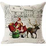 Sannysis Fundas cojín, Funda de almohada para navidad decoracion cojines (Q)