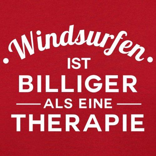 Windsurfen ist billiger als eine Therapie - Herren T-Shirt - 13 Farben Rot