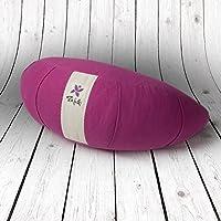 Preisvergleich für ZAFUKI Kissen für Yoga Halbmond, Füllung Bio-Dinkelspelzen (biologischen)/Ideal für Yoga/Yogakissen/Meditationskissen/Grundlage für Meditieren. Material: 100% Baumwolle-Soft (Weich)