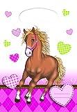 Unbekannt 6 Stück Party-Taschen/Gastgeschenk-Tüten Pferde-Liebe/Kinder-Geburtstag Mädchen/Motto-Party Pferde/Ponys (6 Party-Tüten)