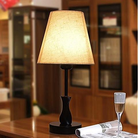 LLYY-Nuova camera da letto in legno moderno e semplice lampada da comodino creativo moda decorazione studio Lampada da scrivania-LYA