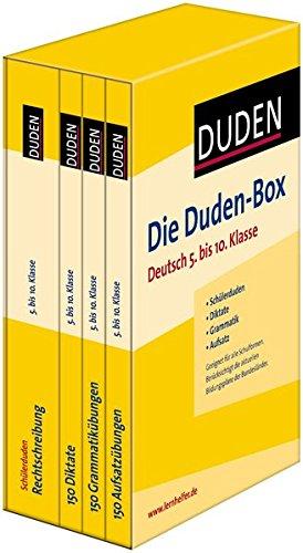 Die Duden-Box Deutsch 5. bis 10. Klasse: Schülerduden - Diktate - Grammatik - Aufsatz (Duden - Lernhilfen)