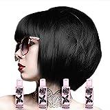 Crazy Colour Semi Permanent Hair Dye By Renbow Black No.30 (100ml) Box of 4