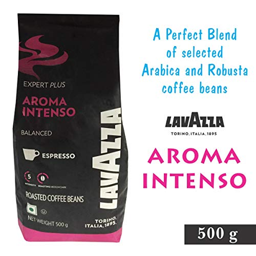 LAVAZZA Aroma Intenso Coffee Beans Pack of 5 (500GX5) + LAVAZZA Limited Edition Coffee Mug Worth RS 300