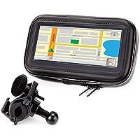 Soporte GPS/Smartphone para Moto, Bici, Scooter – Funda/Carcasa Protectora, Parcialmente Impermeable – Compatible con TomTom , Garmin Nüvi , Magellan , Nova , Apple Iphone y muchos otros GPS y Smartphones.
