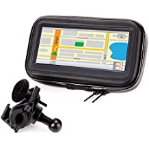 USA Gear Borsa Custodia Impermeabile Porta GPS + Supporto per Manubrio da Moto / Bicicletta per Bryton Rider , Garmin Edge , TomTom Rider e Altri