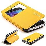 Urcover Galaxy S5 Mini Handyhülle Original View Hülle Case für Das Samsung Galaxy S5 Mini Schutzhülle Schale Etui Cover [DEUTSCHE Marke] Gelb