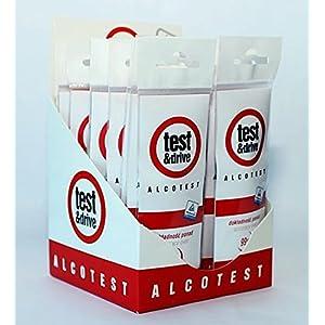 5 x Einweg-Alkoholtester Kits in Echtzeit Alkoholpegelindikatoren