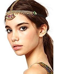 A Z donna Bohemian Rhinstone sposa weddings Direct a forma di testa di  cristalli fascia cartamodello per f5030fdc186f
