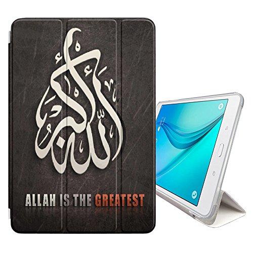 """FJCases Islam Muslim Koran Quora Allah Smart Cover Tablet-Schutzhülle Hülle Tasche + Auto aufwachen / Schlaf Funktion für Samsung Galaxy Tab S3 - 9.7"""" (T820/T825/T827 Series)"""