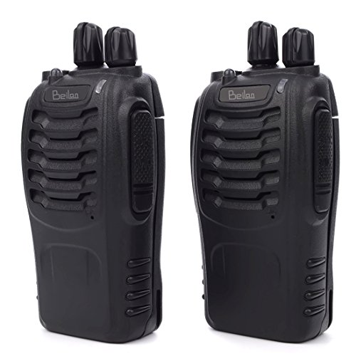 BeiLan 2 stücke Walkie Talkie 16CH Signalband UHF 400-470 MHz Long Range Zweiweg Radio FM Handheld Transceiver mit LED Taschenlampe Voice Aufforderung für Feld Überleben Radfahren Wandern EU Plug