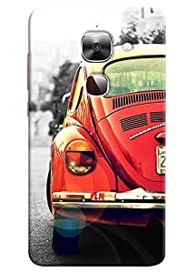 Omnam Vintage Red Car Designer Back Cover Case for LeTv Le2