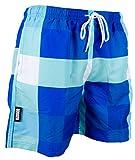 GUGGEN MOUNTAIN Herren Badeshorts Beachshorts Boardshorts Badehose kariert *High Quality Print*