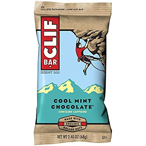 Clifbar Clif Bars - 12 paquete Cool Mint chocolate W / cafeína, un tamaño