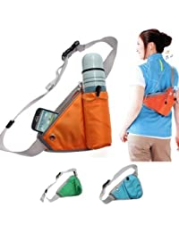 LWVAX Outdoor Travel Waist Bottle Holder Bag Men Women Sports Kettle Waist Pack Fanny Pack Chest Belt Bag