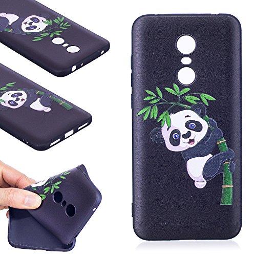 Coque Xiaomi Redmi 5 Plus ,Linvei TPU Silicone Housse Étui Coque de Protection avec Absorption de Choc Anti-Scratch Anti-Slip et Résistant aux Rayures (5,99 Pouces) - Panda bambou