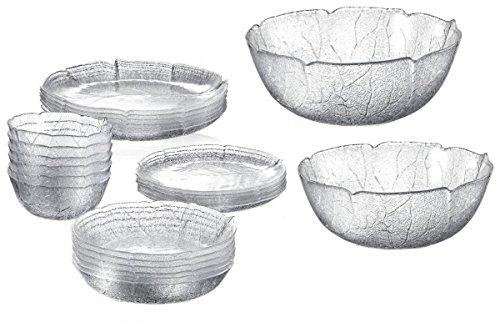 Serie Aspen Glasschalen / Glasteller in versch. Größen Größe 6 x Schälchen 12cm (24 Aspen)
