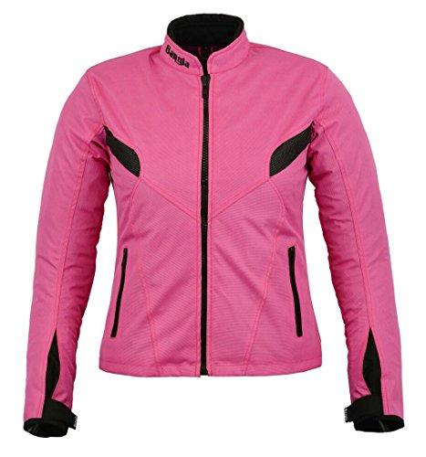 Damen Motorradjacke B-03 Bangla Touren Jacke Textil Pink XL