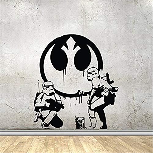 Geiqianjiumai Film Film Wandtattoos lustiger Planet Stormtrooper zeichnen Graffiti Vinyl Aufkleber...