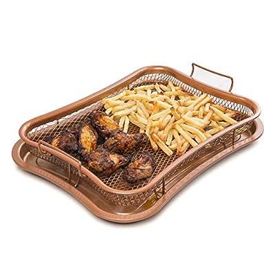 Kitchen Pro Plateau anti-adhésif pour four avec panier en maille