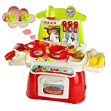 Giochi d'imitazione Cucina Giocattolo per Bambini Prima Cucina Kit con Accessori per Ragazzi e Ragazze