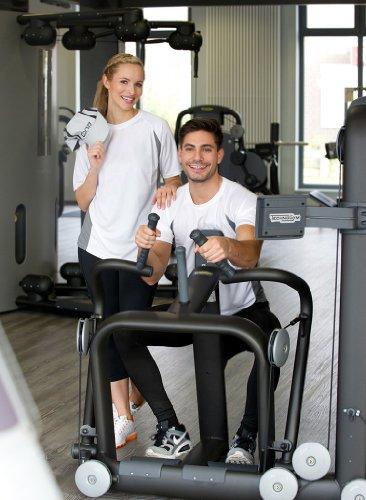 Funktionelles Unisex Sport & Training T-Shirt Racer Tech Tee in Kontrastfarben White/Coolgrey