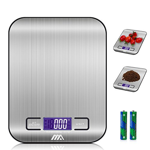 Adoric Báscula Digital para Cocina de Acero