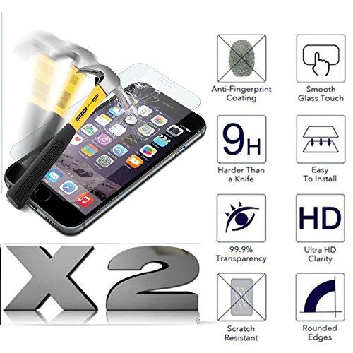 'Kit 2Bildschirmschutzfolien (2Pack) für Alcatel A3XL/(9008d) mit Bildschirm 6.0Folie gehärtetem Glas 9H Schutzfolie Schutz schützen Touch Screen LCD Displayschutz stoßfest 9H Bildschirm kratzfest