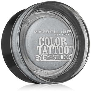Maybelline New York Eye Studio Color Tattoo Metal 24 Hour Cream Gel Eyeshadow, 0.14 Ounce (Silver Strike)